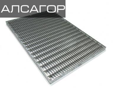 Стальная решетка 390х590х20 мм, 33х11/20х2 мм