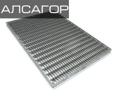 Стальная решетка 500х1000х30 мм