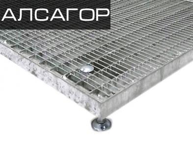 Приступок решетчатый НОРД 500/1000, 1000/1000 мм