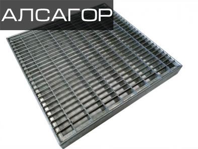 Стальная решетка 500х500x30 мм, 33х11/30х2 мм
