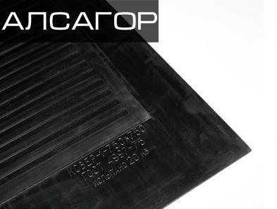 Коврик резиновый диэлектрический 750х750х6 мм