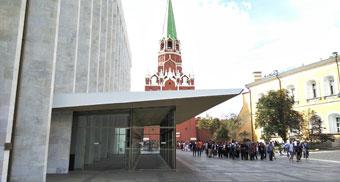 Замена грязезащитного покрытия в первом тамбуре Кремлевского дворца