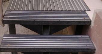 Решетчатый настил на лестничные ступени